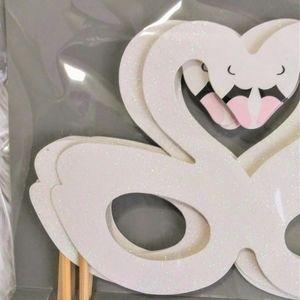 Swan Princess Masquerade Mask Party Glasses
